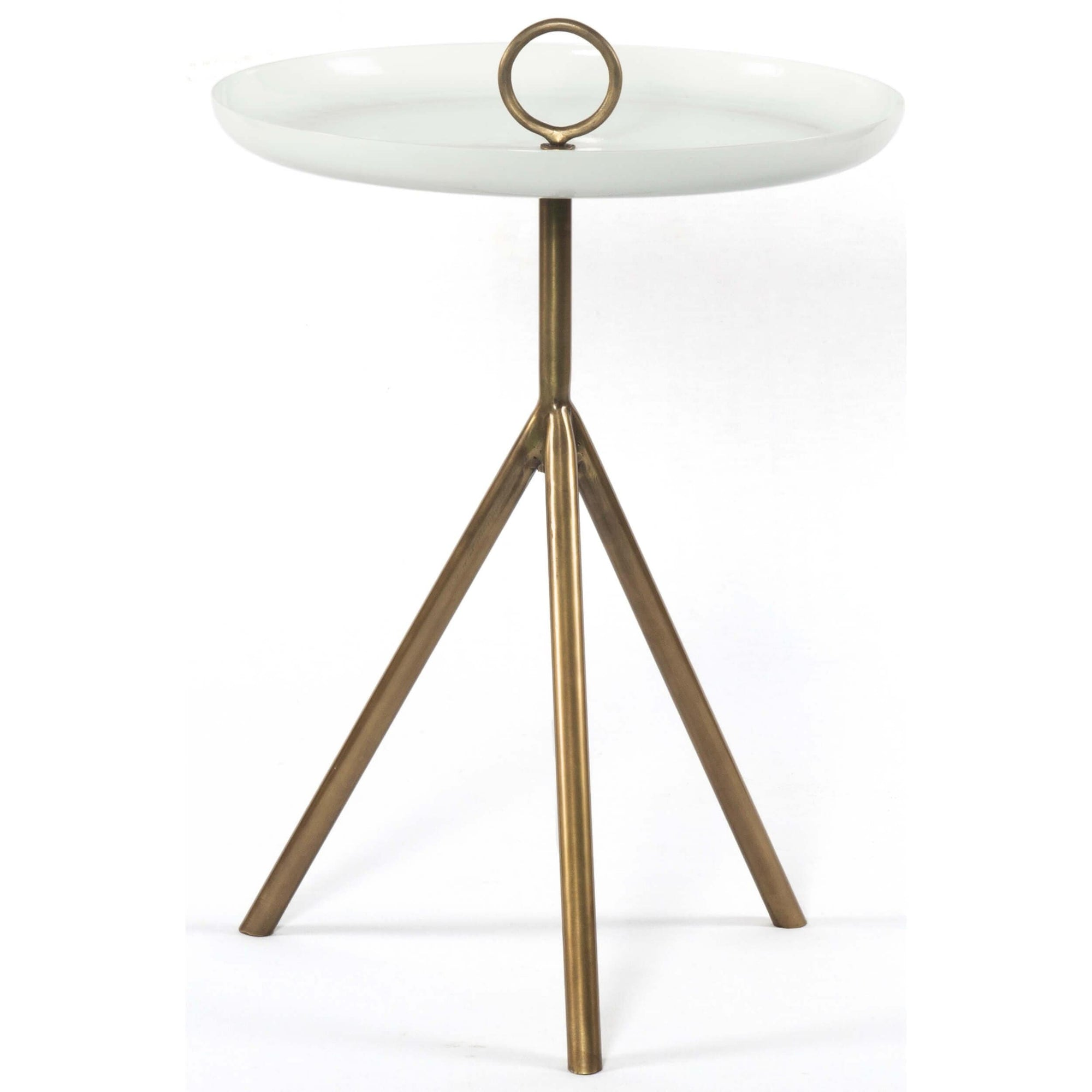 Alora End Table, Antique Brass – High Fashion Home