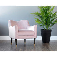 Bow Chair, Blush - Furniture - Chairs - High Fashion Home