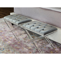 Allura Bench, Light Grey - Furniture - Chairs - Ottomans