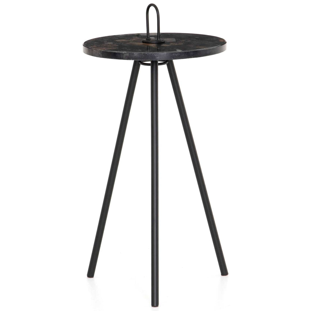 Alva Accent Table, Black Marble - Furniture - Accent Tables - High Fashion Home