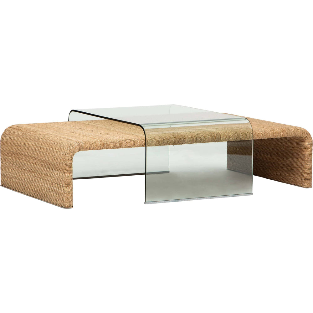 Amani Rope And Glass Coffee Table