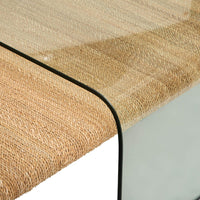 Amani Rope And Glass Coffee Table - Modern Furniture - Coffee Tables - High Fashion Home