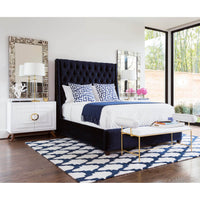Brussels Velvet, Midnight - Fabrics - High Fashion Home