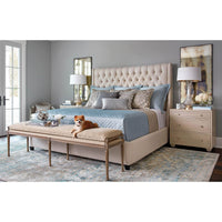 Amelia Tall Bed, Duet Natural - Modern Furniture - Beds - High Fashion Home