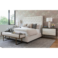 Amelia Tall Bed, Nomad Snow - Modern Furniture - Beds - High Fashion Home