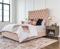 Amelia Tall Bed, Vance Rose - Modern Furniture - Beds - High Fashion Home