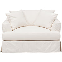 Andre Slipcover Chair, Dyno White - Furniture - Chairs - High Fashion Home
