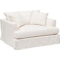 Andre Slipcover Chair, Dyno White - Furniture - Chairs - Fabric