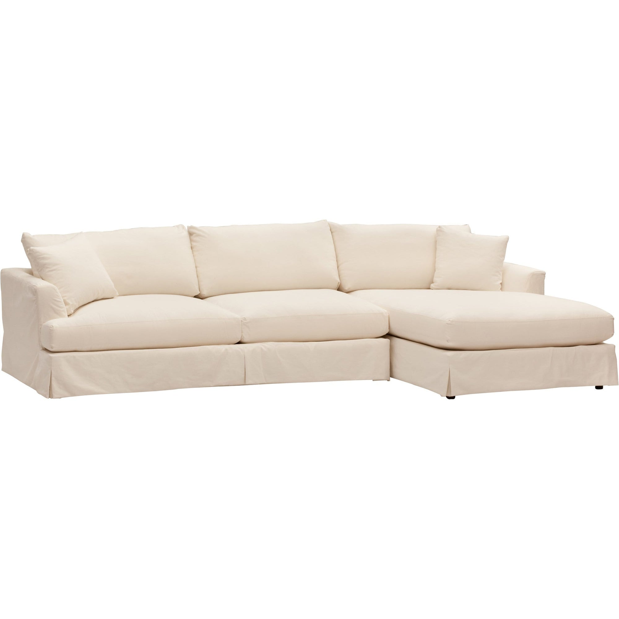 Andre Slipcover Sectional, Deso Snow – High Fashion Home