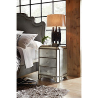 Arabella Mirrored Three Drawer Nightstand - Furniture - Bedroom - High Fashion Home