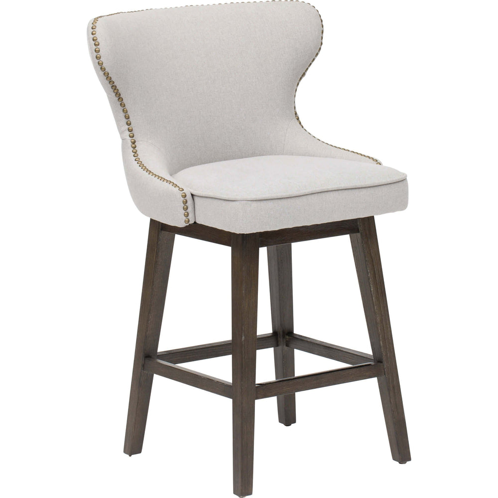Ariana Swivel Counter Stool, Light Grey - Furniture - Dining - Dining Stools