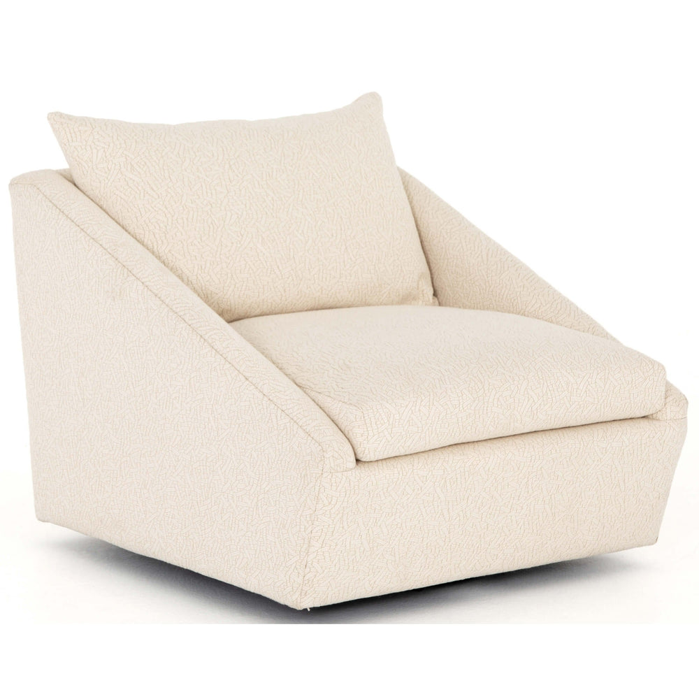 Arrow Swivel Chair, Dobie Ecru