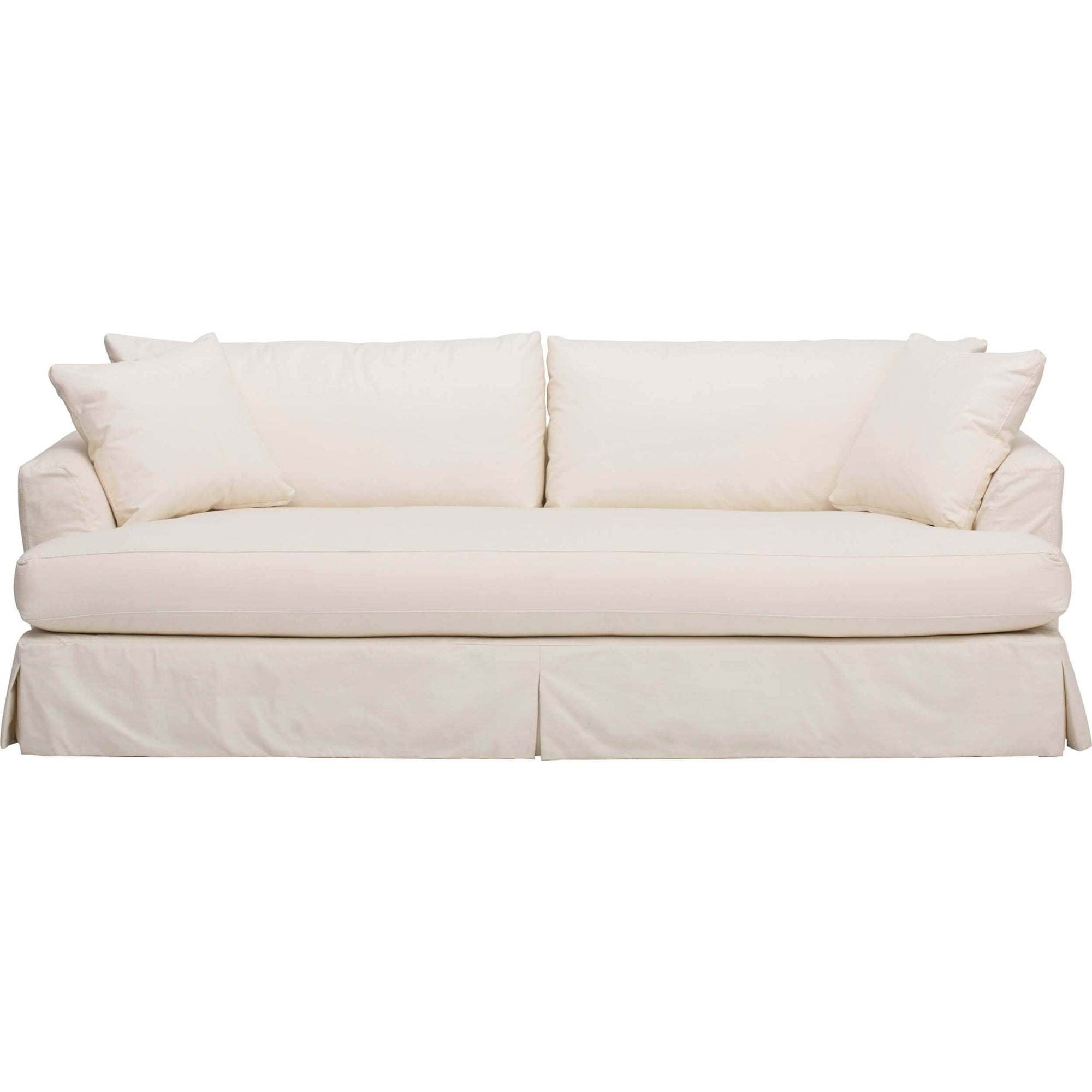 Aston Grand Slipcover Sofa Delilah White High Fashion Home