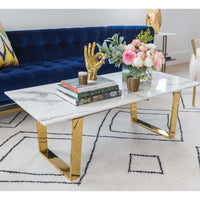 Atlas Coffee Table, Gold - Modern Furniture - Coffee Tables - High Fashion Home