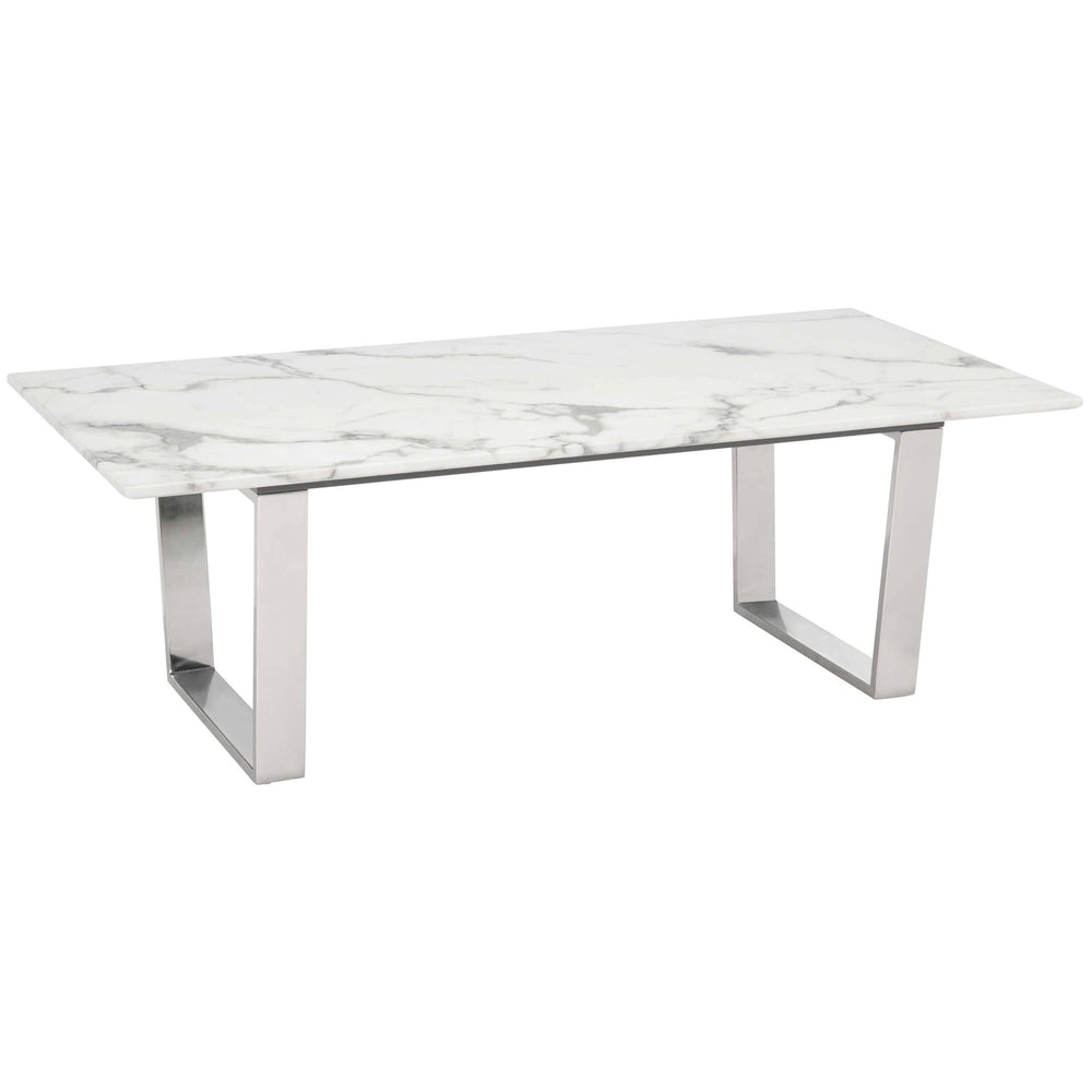 Atlas Coffee Table, Silver - Furniture - Accent Tables - High Fashion Home