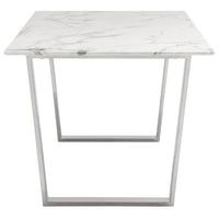 Atlas Dining Table, Silver - Modern Furniture - Dining Table - High Fashion Home
