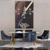 Particle Chandelier Antique Brass, Small - Lighting - High Fashion Home
