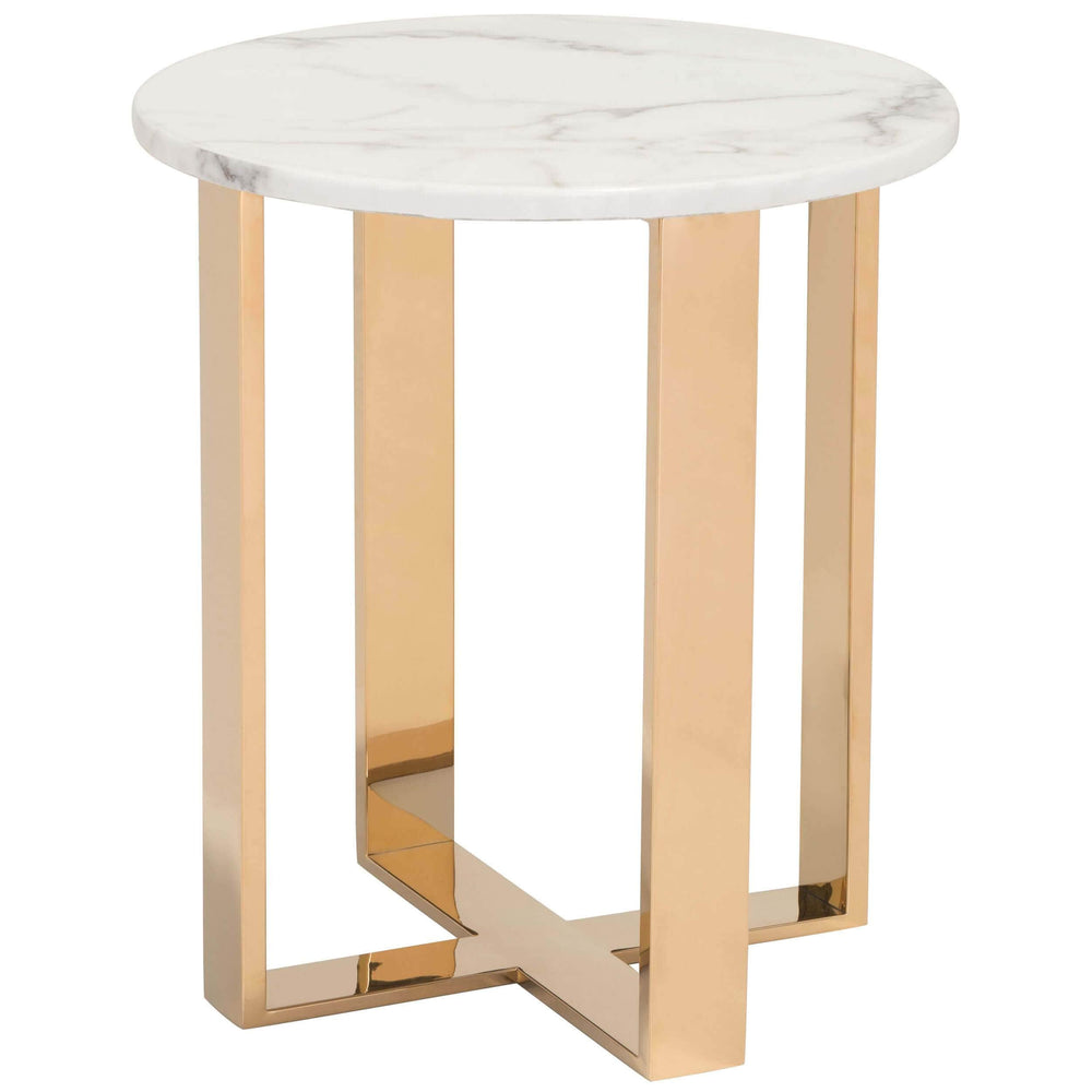 Atlas End Table, Gold - Furniture - Accent Tables - High Fashion Home