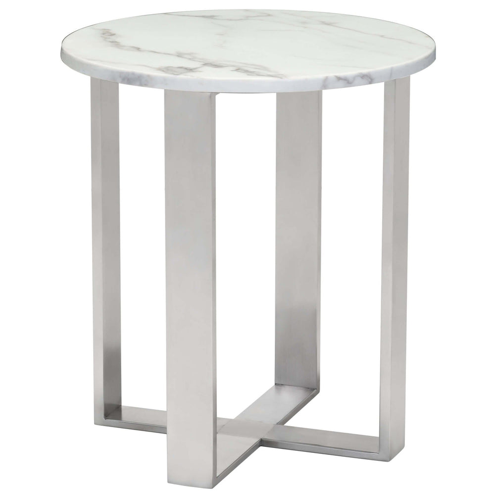 Atlas End Table, Silver - Furniture - Accent Tables - High Fashion Home