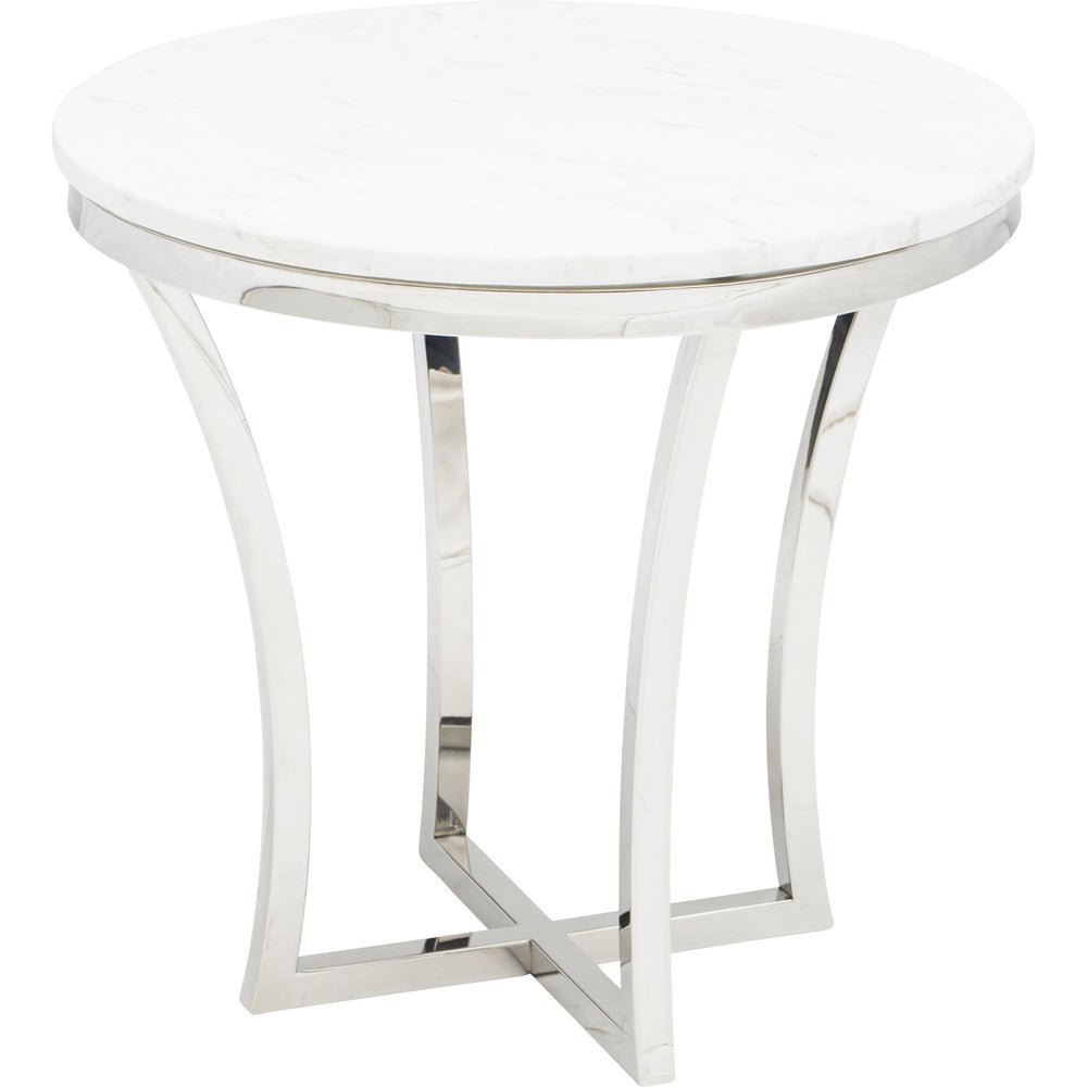 Aurora Side Table, Polished Stainless - Furniture - Accent Tables - High Fashion Home
