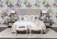 Simone Bed, View Grey - Modern Furniture - Beds - High Fashion Home