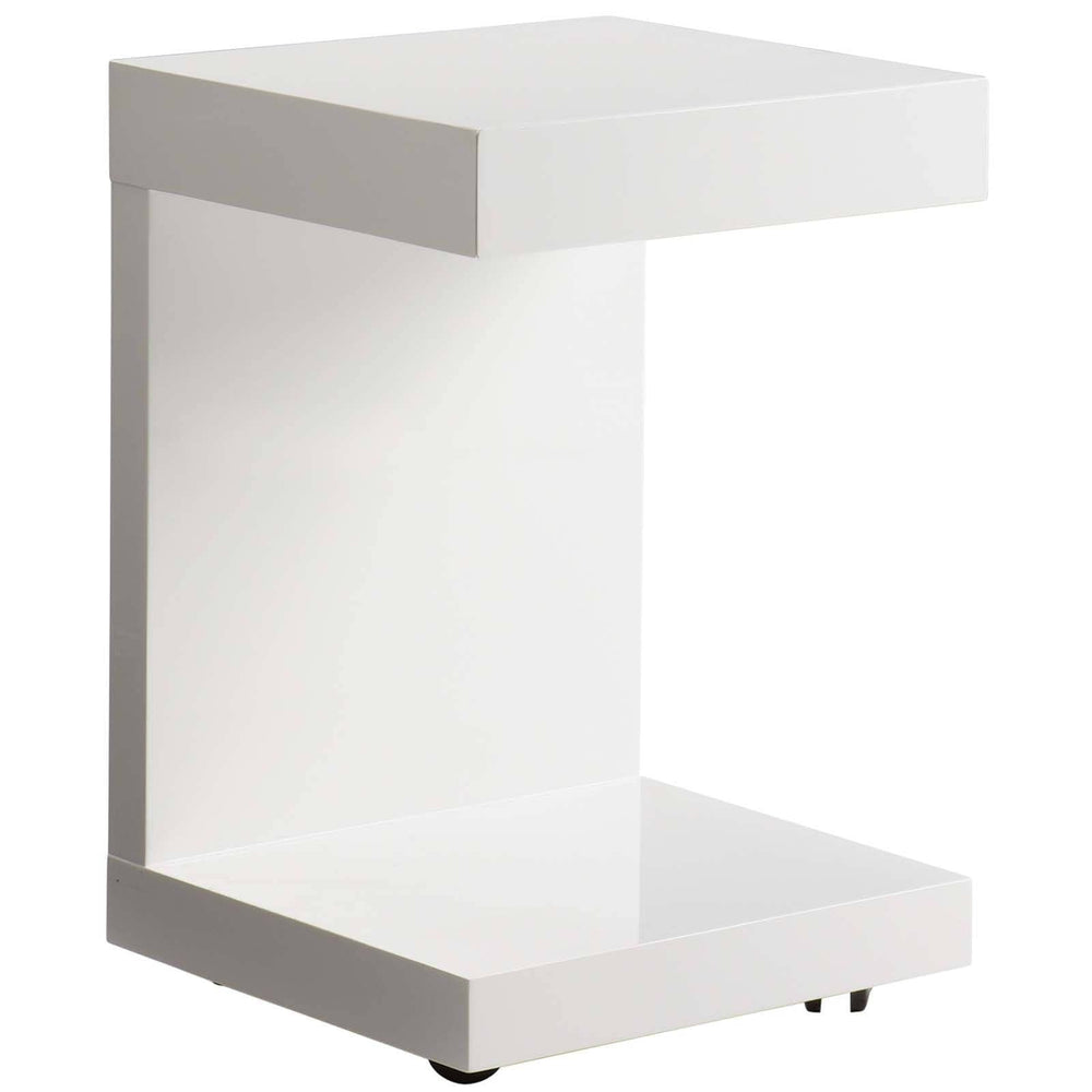 Bachelor TV Table, White - Furniture - Sunpan