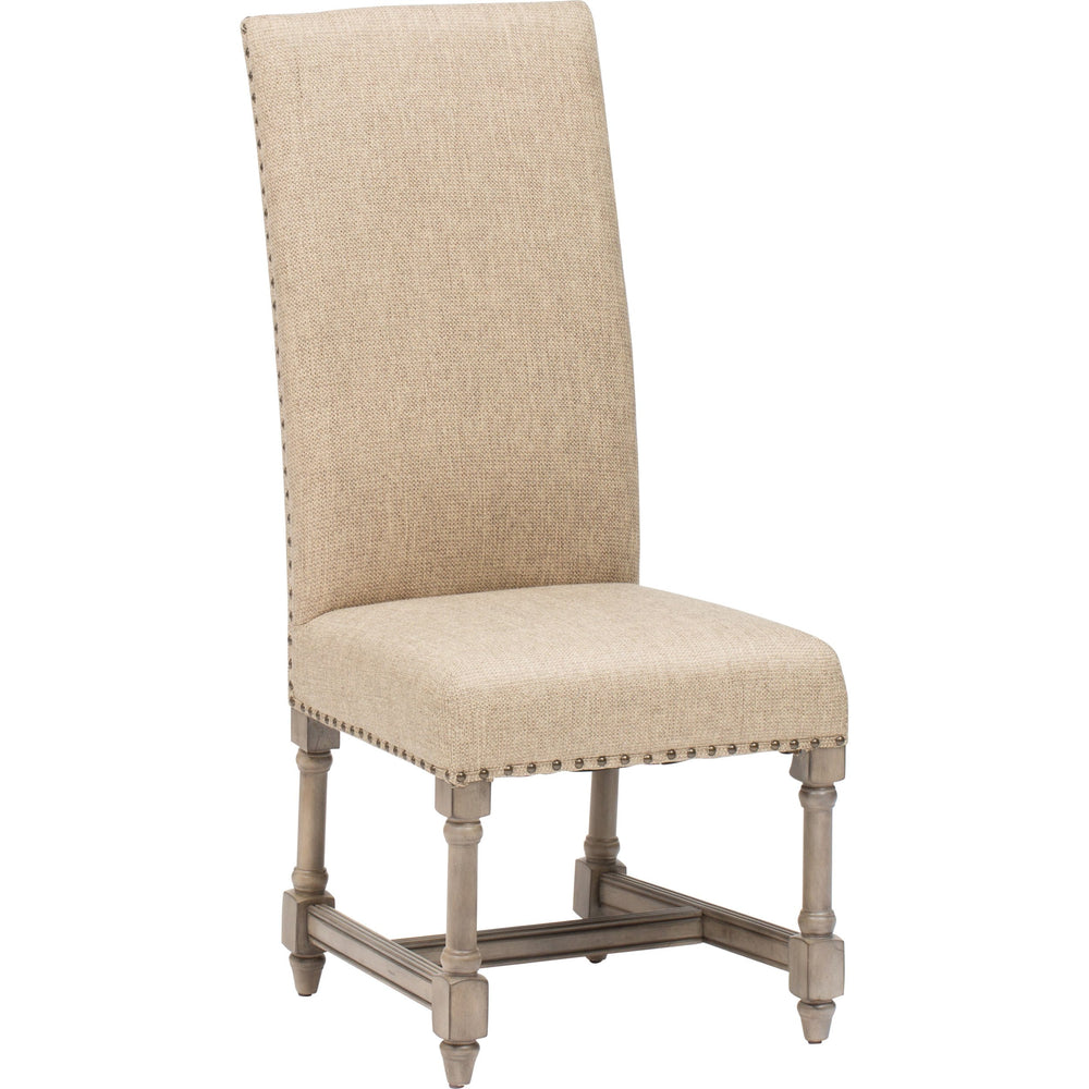 Baroque Linen Side Chair - Furniture - Dining - Chairs & Benches