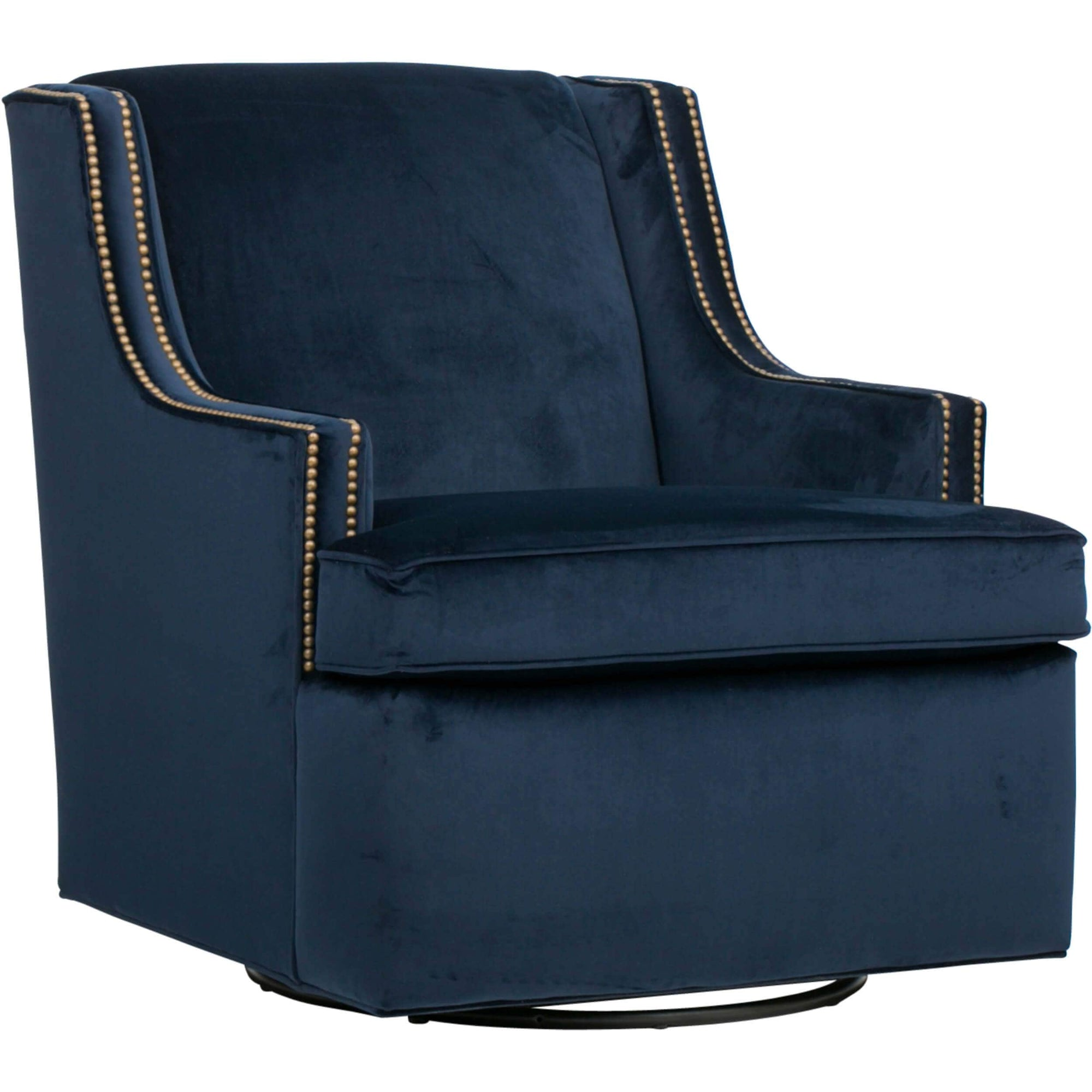 Wondrous Beckley Swivel Chair Navy High Fashion Home Theyellowbook Wood Chair Design Ideas Theyellowbookinfo