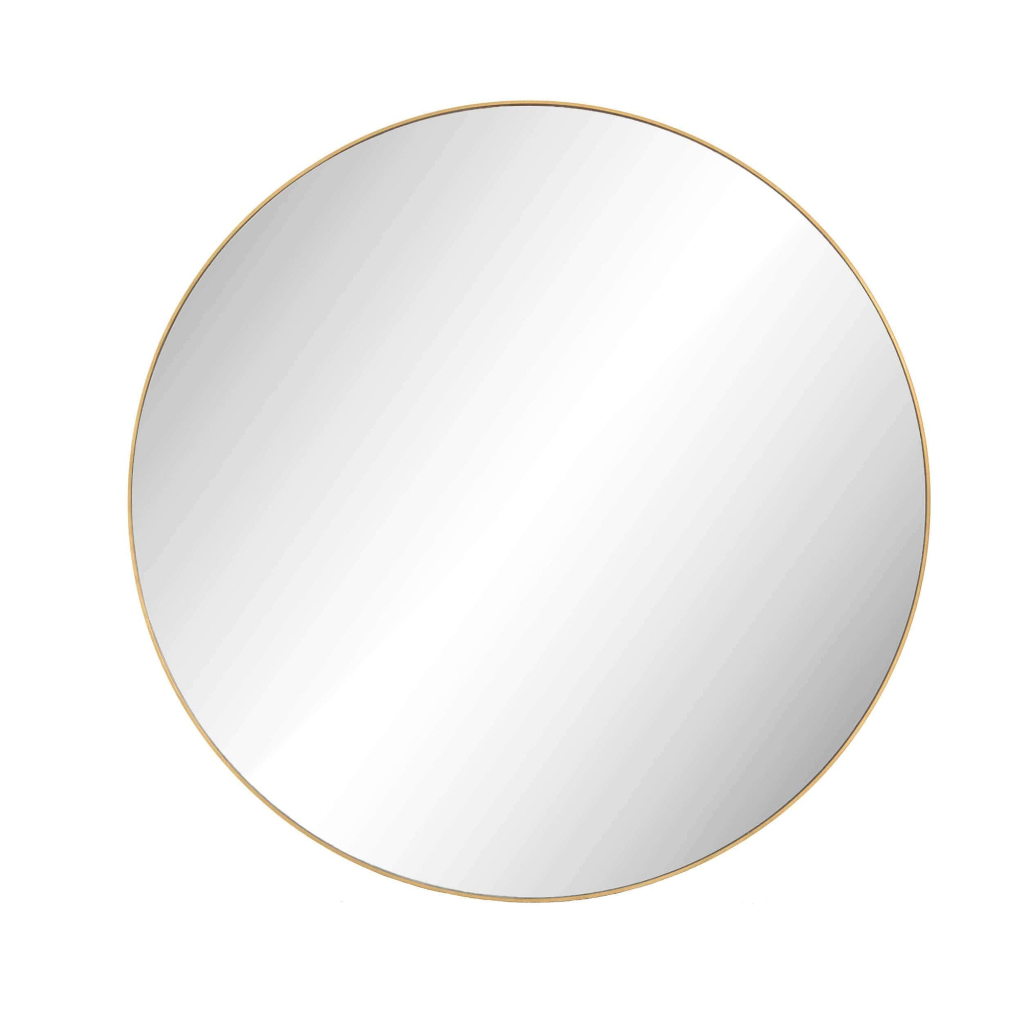 Bellvue Large Round Mirror Polished Brass High Fashion Home