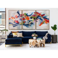 Benson Sectional, Brussels Midnight - Modern Furniture - Sectionals - High Fashion Home