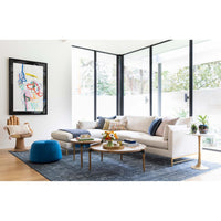 Benson Sectional, Crevere Cream - Modern Furniture - Sectionals - High Fashion Home