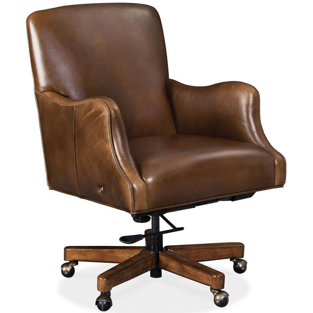 Binx Heated Leather Executive Office Chair, Legendary Camel - Furniture - Chairs - High Fashion Home