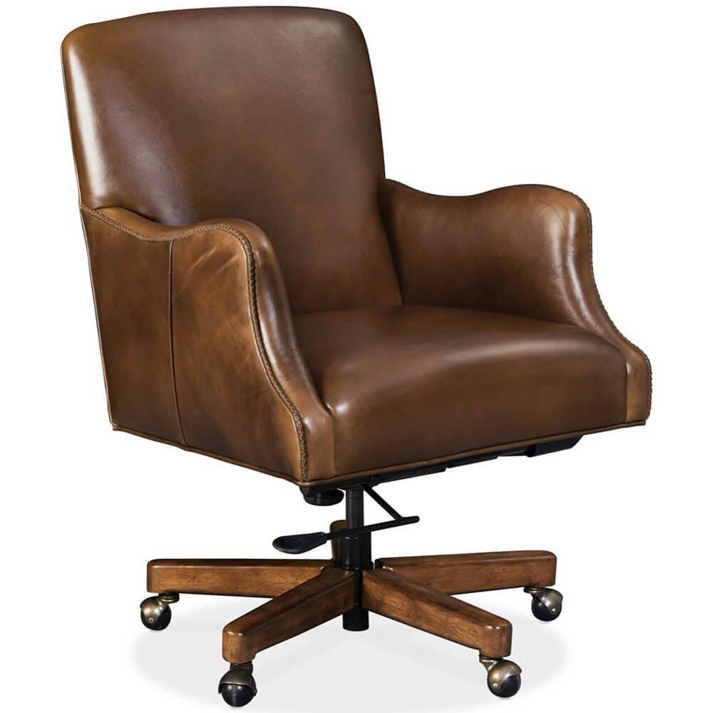 Binx Leather Executive Office Chair Legendary Camel High Fashion Home