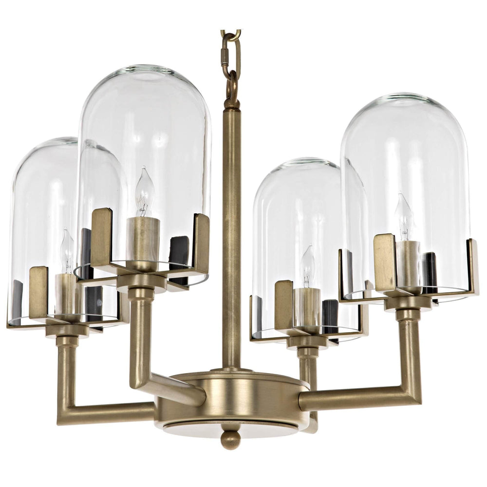 Bistro Chandelier, Antique Brass - Lighting - High Fashion Home