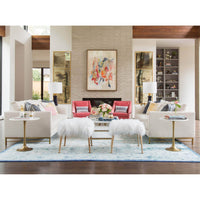 Catrine Coffee Table, Gold - Furniture - Accent Tables - Coffee Tables