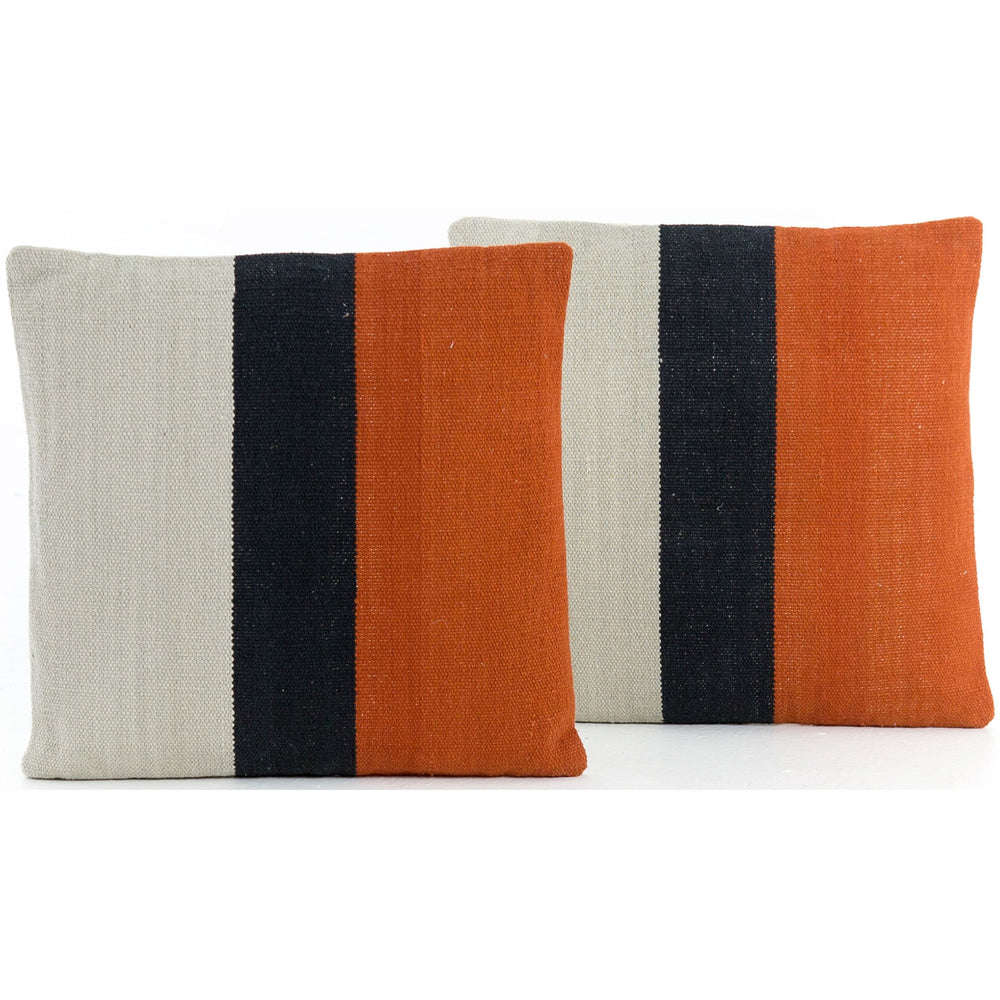 Block Stripe Pillow, Sienna (Set of 2) - Accessories - What's New