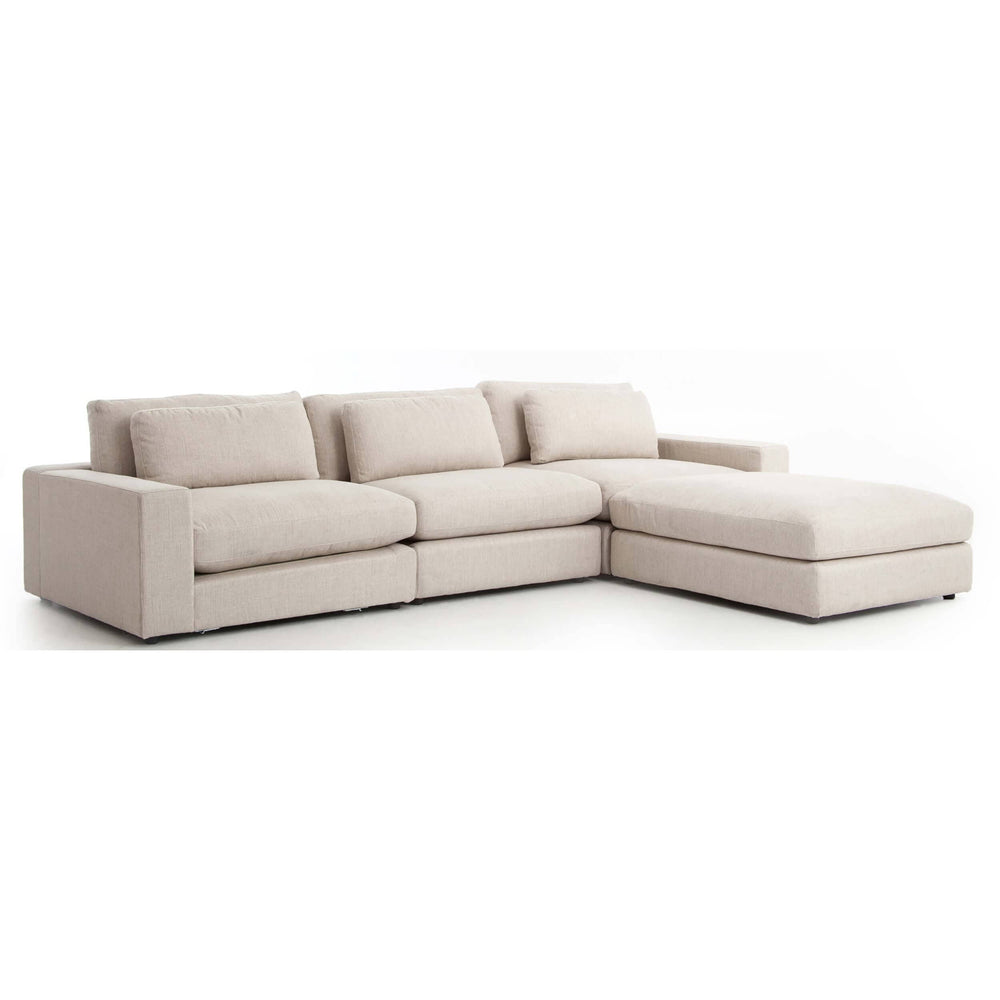 Bloor Sofa w/Ottoman, Essence Natural - Modern Furniture - Sectionals - High Fashion Home