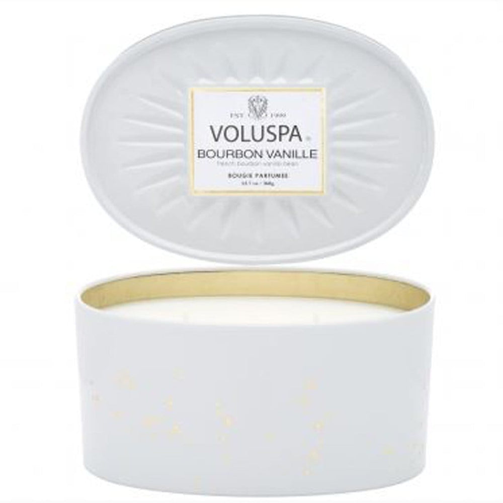 Voluspa Bourbon Vanille Oval 2 Wick Tin  - Accessories - Home Fragrance - Candles