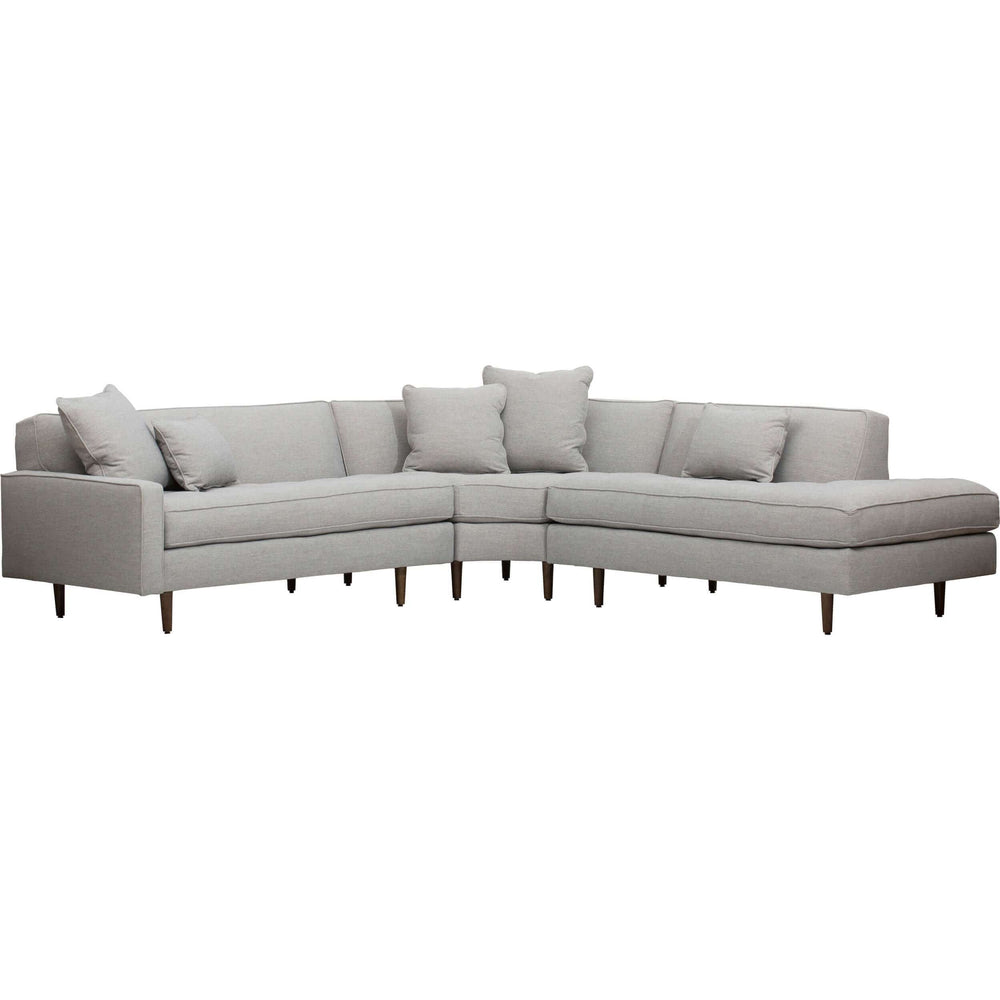 Brady Sectional, Platinum - Modern Furniture - Sectionals - High Fashion Home