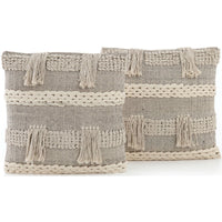 Braided Fringe Pillow (Set of 2) - Accessories - High Fashion Home