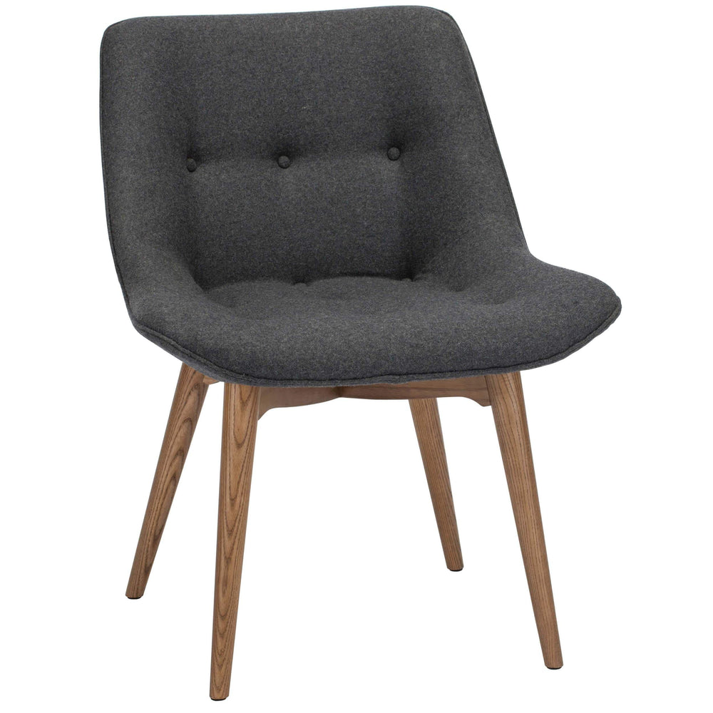 Brie Dining Chair, Dark Grey - Furniture - Dining - High Fashion Home