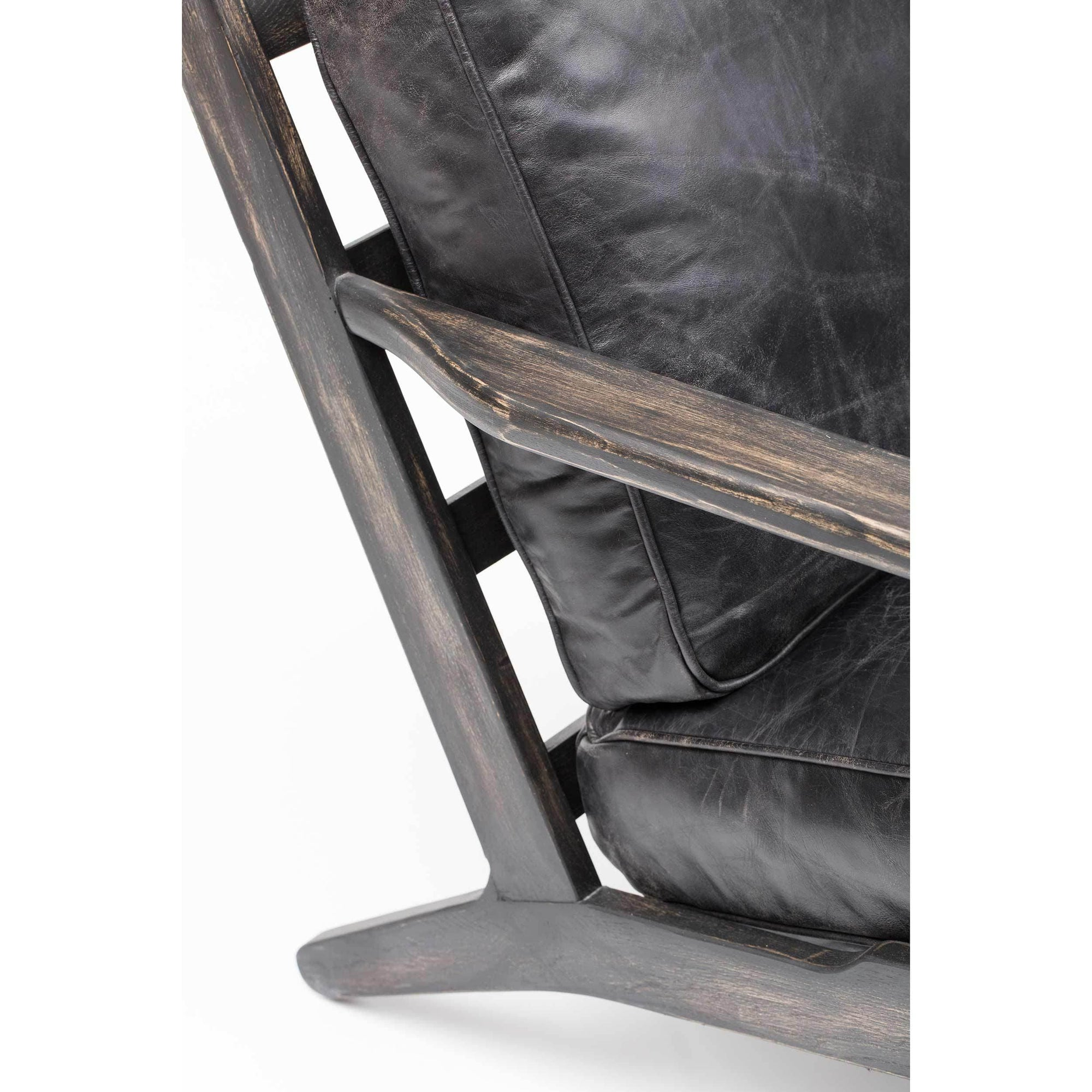 Brooks Leather Lounge Chair Ebony High Fashion Home