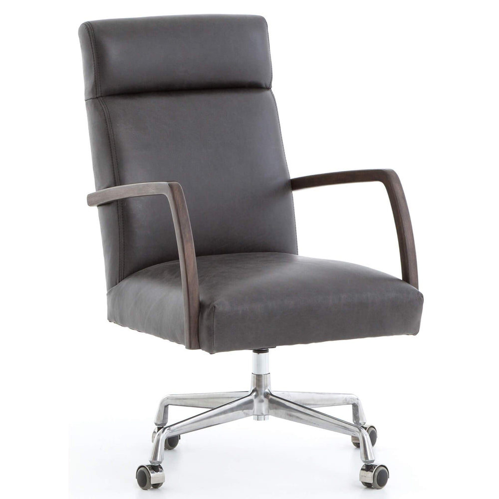 Bryson Desk Chair, Chaps Ebony - Furniture - Office - High Fashion Home