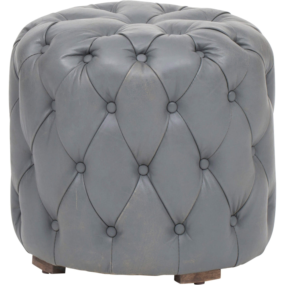 Buttoned Up Stool, Grey - Furniture - Chairs - High Fashion Home
