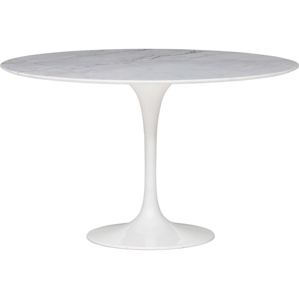 Cal Dining Table, White Marble - Furniture - Dining - Dining Tables