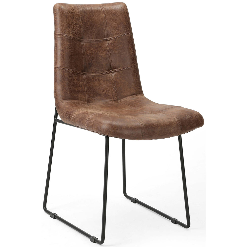 Camile Dining Chair, Vintage Tobacco - Furniture - Dining - High Fashion Home