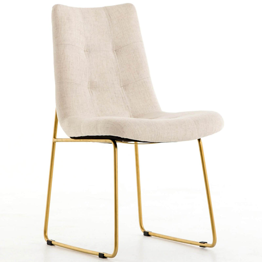 Camile Dining Chair, Savile Flax - Furniture - Dining - High Fashion Home