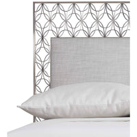 Cancello Upholstered Metal King Bed