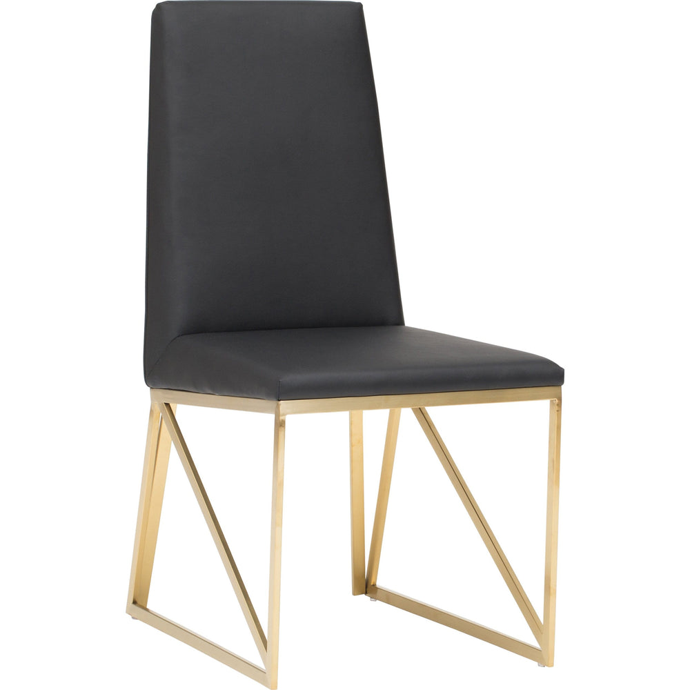 Caprice Dining Chair, Black - Furniture - Dining - High Fashion Home
