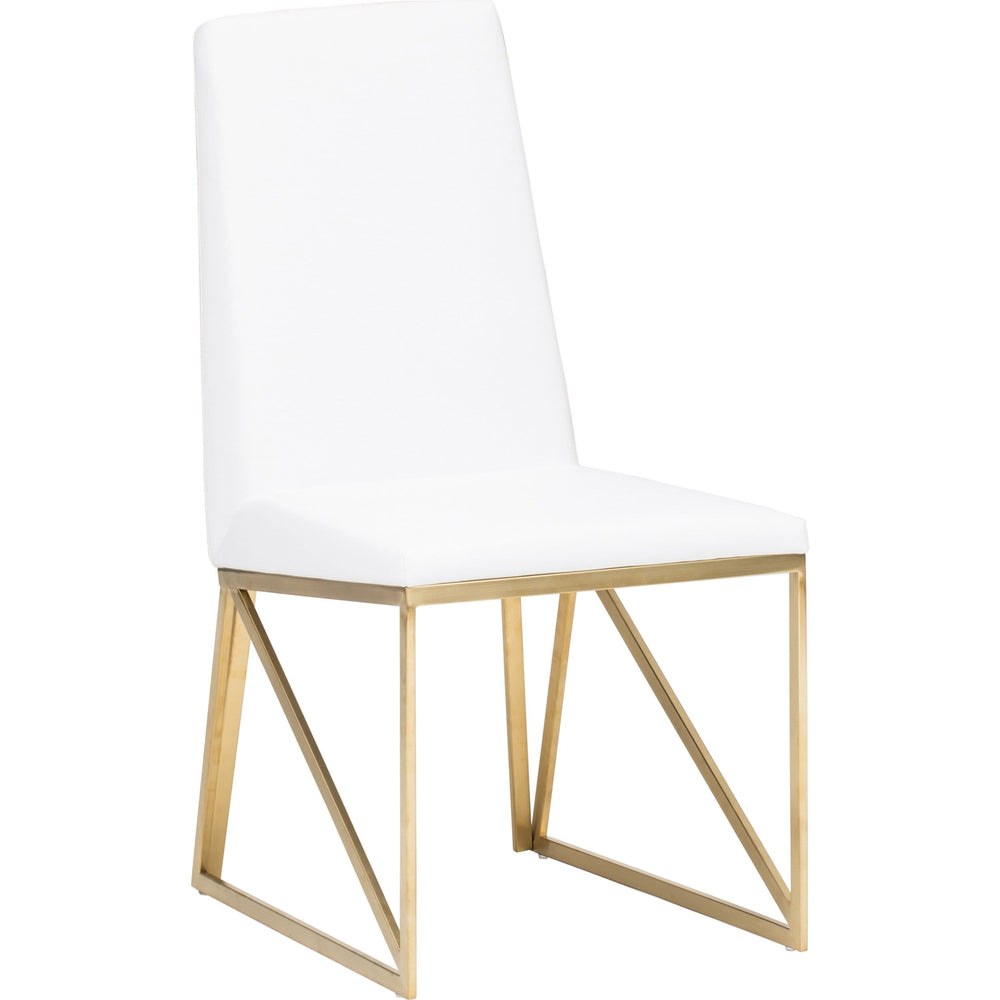 Caprice Dining Chair,  White - Furniture - Nuevo Living